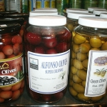 Large selection of imported olives
