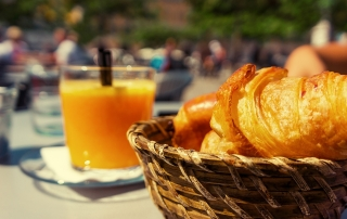 Delicious croissants and OJ at Brunch in Branson