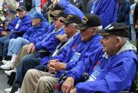 Veterans sitting during the Veterans parade, one of the most patriotic Branson, Missouri attractions to check out.
